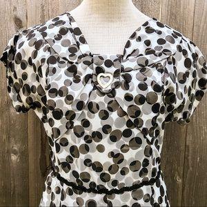 True Vintage 1950s Flirty Polka Dot Day Dress